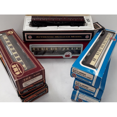 27 - Mainline/Airfix/Dapol/GMR OO Gauge 8 x boxed Coaches....