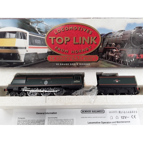 """5 - Hornby OO gauge locomotive- R310 BR 4-6-2 Battle of Britain Class """"Lord Beaverbrook"""". Excellent boxe..."""