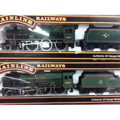 28 - Two Mainline Railways OO gauge locomotives - 37-057 4-6-0 7P rebuilt Scot Class #46100 and 37-089 Ju...