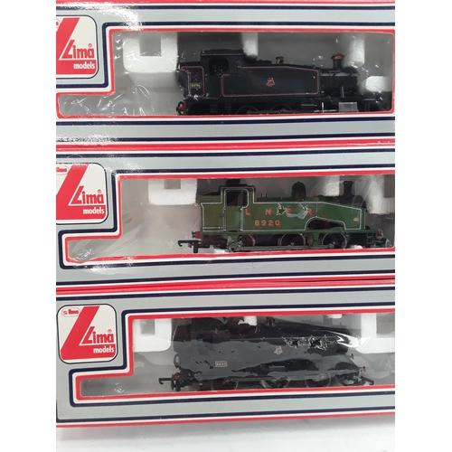 7 - Three Lima OO gauge locomotives-  L205118-PO06 Class 94xx 0-6-0T 9420 in BR Black, L205110-LN Class ...