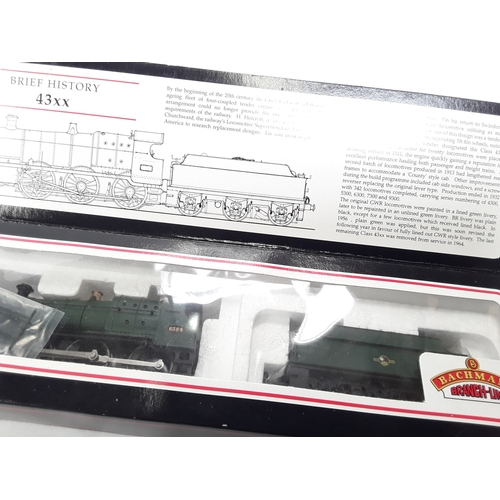 4 - Bachmann OO gauge 2-6-0 locomotive - 31-826 43xx 6384 BR Plain Green Late Crest. Excellent boxed....