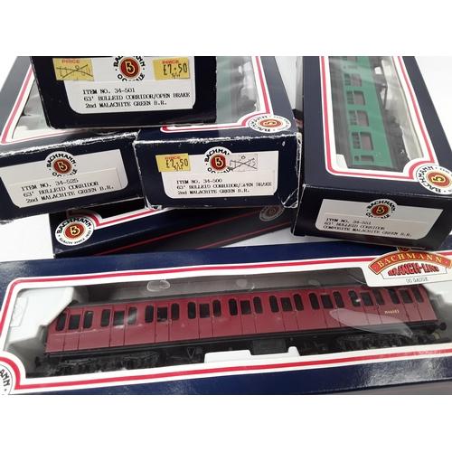 6 - Bachmann OO Gauge 6 x boxed Coaches - 34-500, 34-501, 34-525, 2 x 34-551, 34-600....