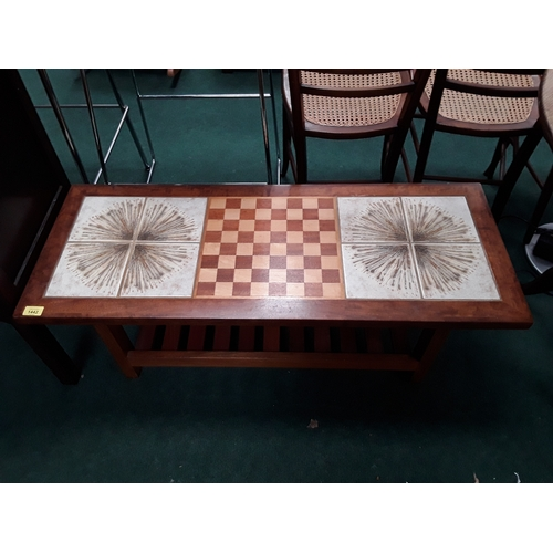 Prime A 1970S Teak Tiled Top Coffee Table With Inlaid Chess Board Ncnpc Chair Design For Home Ncnpcorg