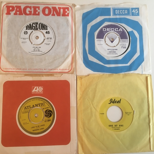 34 - NORTHERN / SOUL DEMO VINYL 45's x 4. UK released singles include Barbara Lewis ' Love To Be Loved' o...