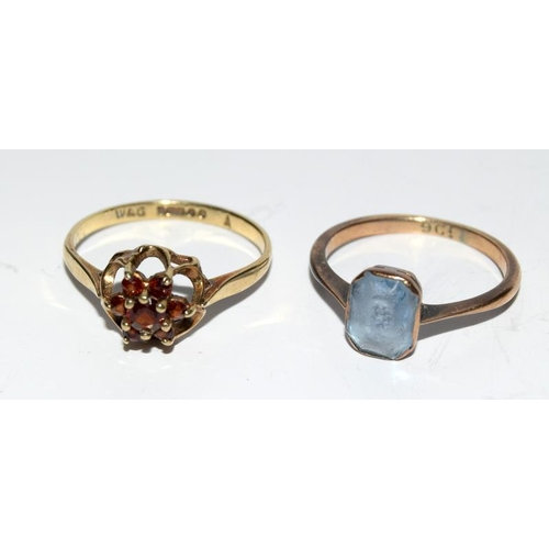 362 - Two 9 carat gold rings....