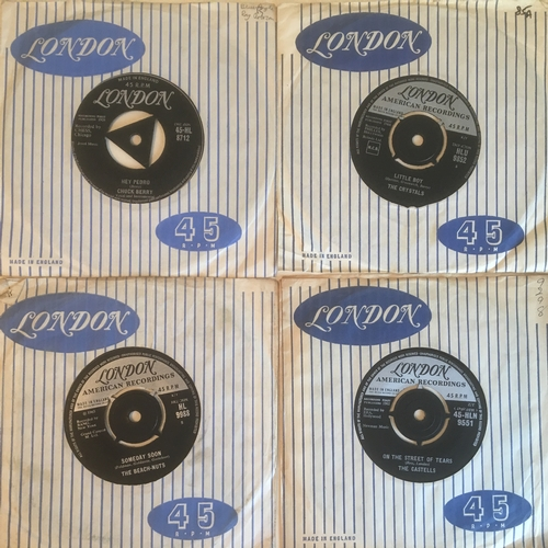 37 - LONDON LABEL 45rpm VINYL SINGLES x 4. Chuck Berry is the first offering with 'Carol' on HL 8712 from...