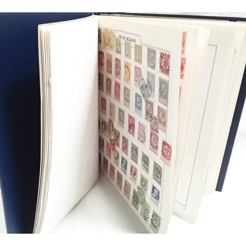 212 - Album with large Belgian stamp collection....