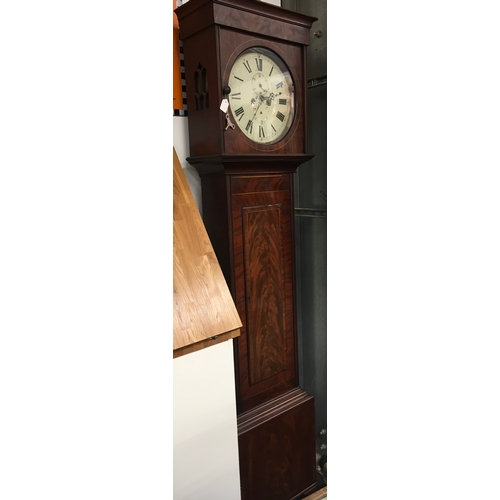 455 - A long case 8 day striking mahogany cased clock....