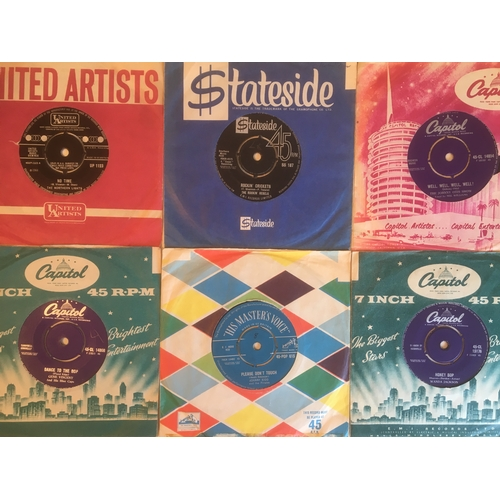 38 - 1950'S & 1960'S  COLLECTABLE 45 rpm VINYL SINGLES. Gene Vincent - 'Dance To The Bop' on Capitol CL 1...