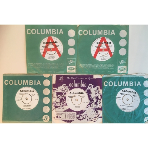 39 - COLLECTION OF 5 COLUMBIA DEMO'S. Jimmy Jackson's one sided 'Sittin' In The Balcony' on DB 3937 from1...