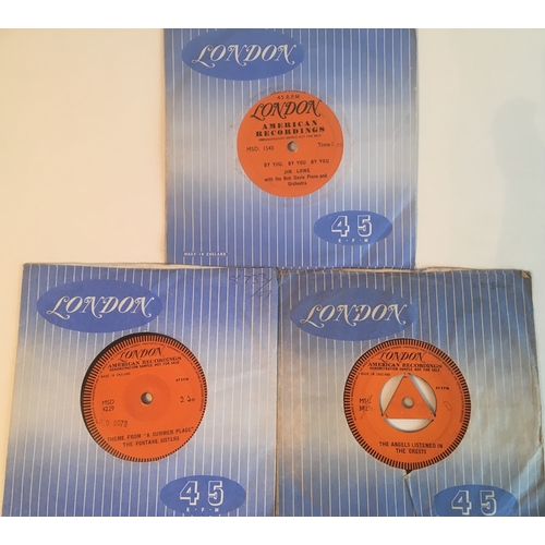 50 - LONDON 1 SIDED DEMO'S X 3. Superb set here to include The Fontane Sisters with 'Theme From A summer ...