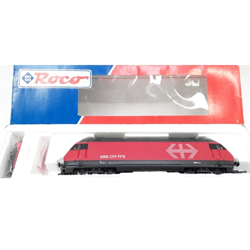 35 - Roco 43655 loco HO gauge class Re 4/4 460 in red of the SBB, Epoch V. Boxed....