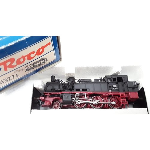32 - Two HO Roco steam tank locomotives- 43208 0-6-0 DB BR 80 031 and 43271 2-6-0 DB BR 74 967. Both Good...