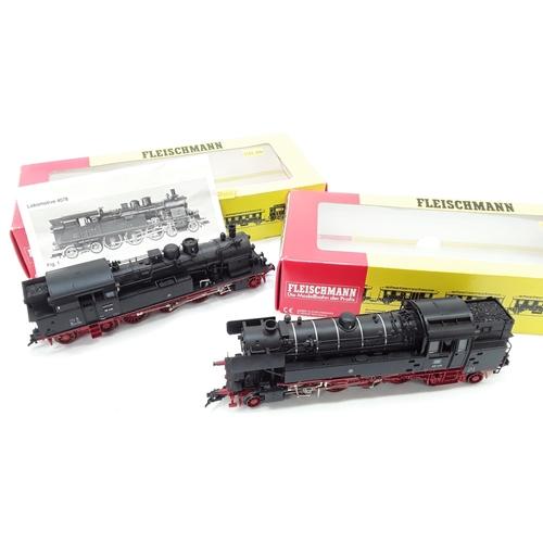 42 - HO Fleischmann a pair of DB Tank Locos comprising 4078 4-6-4 Class 78 No.78 434, 4065 2-8-4 Class 65...