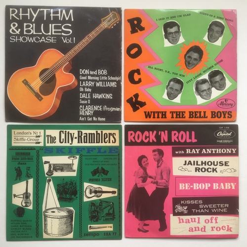 23 - COLLECTION OF 4 GREAT EXTENDED PLAY 45RPM RECORDS. The City Ramblers on Tempo XA 77 from 1957 - Fred...