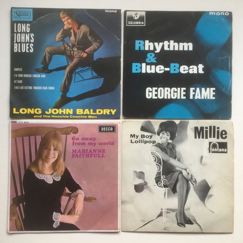 24 - 1960's E.P. VINYL POP RECORDS X 5. Lovely set here to include - Millie 'My Boy Lollipop' on Fontana ...