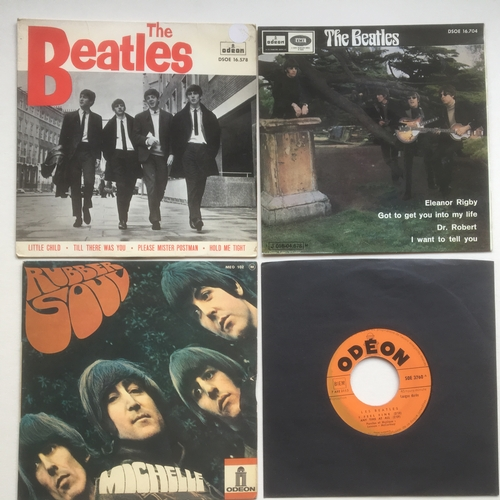 28 - BEATLES FOREIGN E.P. COLLECTION X 4. Spanish disc's here on the Odeon labels include 'Little Child' ...