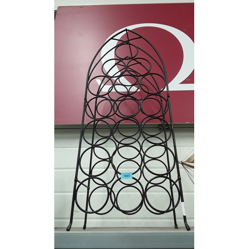 1003 - A contemporary modern wine rack....