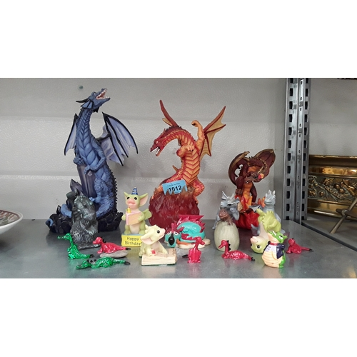 1012 - A collection of Dragon and other ornaments....