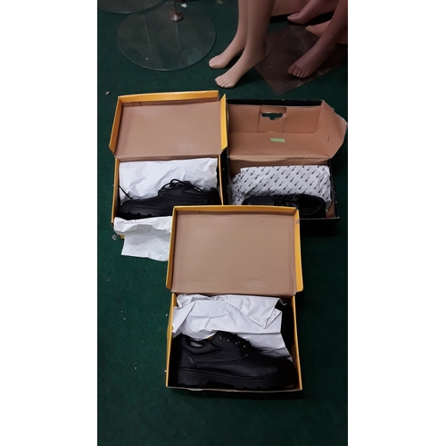 1016 - Three boxed pairs of mens work boots. 2 x size 12, 1 x size 6....