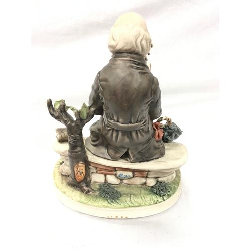 1031 - A Capo-di-Monte porcelain figure