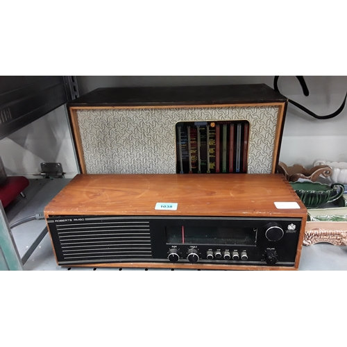 1038 - A 1960's Pye radio together with a Roberts Radio....