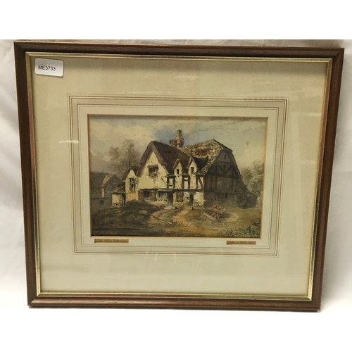 1189 - An Old Cottage watercolour signed John Doby 1837 44 x 39cm....