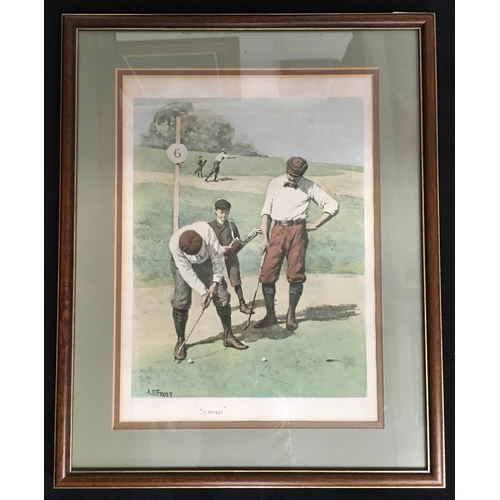 1194 - An A.B. Frost 'Stymied' golfing print....