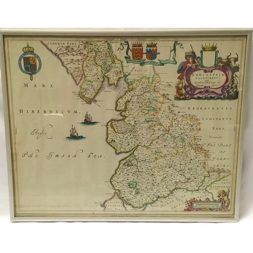 1213 - A framed and glazed Map, printed by John Bartholomew & Sons Ltd, Edinburgh, Scotland. 52 x 42cms....