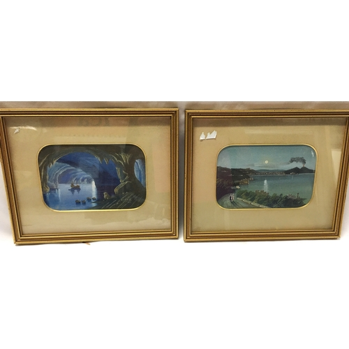 1219 - A pair of watercolours from the Neapolitan school 27 x 20cm....