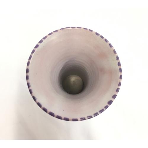 124 - Poole Pottery shape 516 TJ pattern Art Deco trumpet vase....
