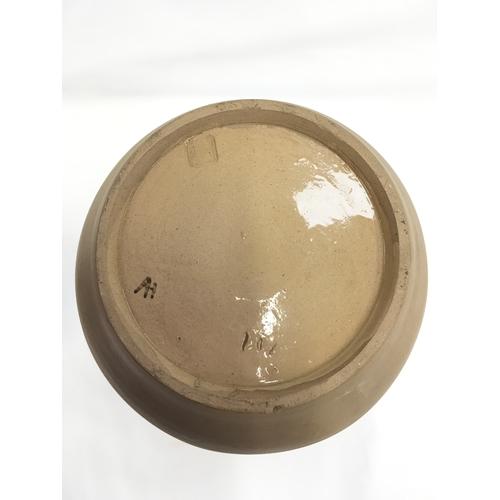 136 - Poole Pottery Carter Stabler Adams large unglazed vase by Anne Hatchard....
