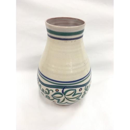 117 - Poole Pottery Carter Stabler Adams shape 337 large TR pattern vase....