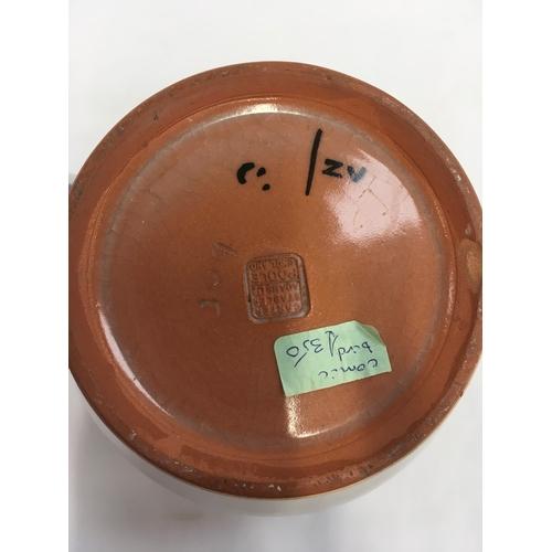 116 - Poole Pottery Carter Stabler Adams shape 309 ZV pattern (brown comical bird) large jug....