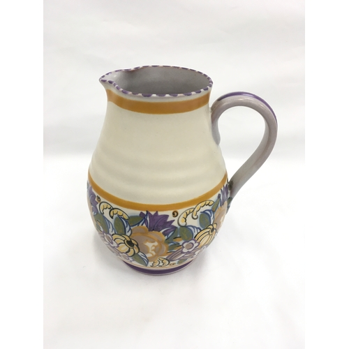 121 - Poole Pottery Carter Stabler Adams shape 484 PD pattern jug by Eileen Prangnell....