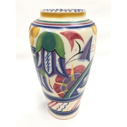 42 - Poole Pottery shape 514 VY pattern Art Deco vase....