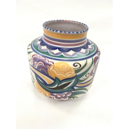 31 - Poole Pottery Carter Stabler Adams shape 960 CO pattern vase by Eileen Prangnell....
