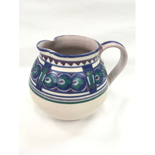 100 - Poole Pottery Carter Stabler Adams shape 891A BZ pattern Art Deco large jug by Eileen Prangnell....