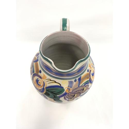 43 - Poole Pottery Carter Stabler Adams shape 295 GX pattern jug by Eileen Prangnell....