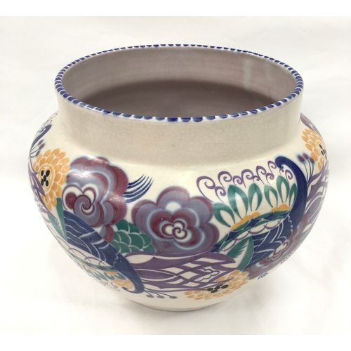 99 - Poole Pottery Carter Stabler Adams shape 925 large YQ pattern Jardiniere by Ruth Pavely manufactured...