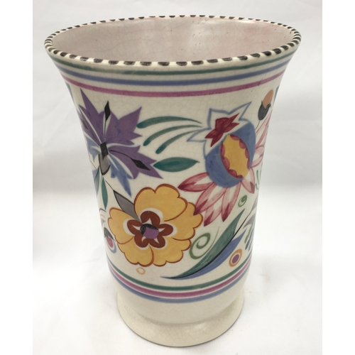48 - Poole Pottery shape 167 LE pattern vase by Iris Skinner....