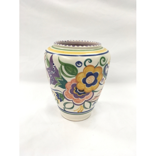 45 - Poole Pottery shape 852 KK pattern vase....