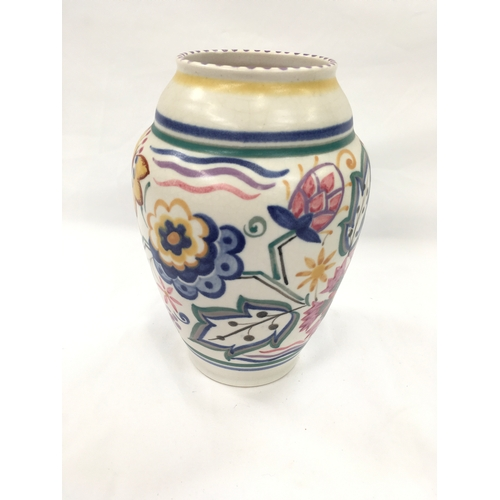 47 - Poole Pottery shape 599 A pattern vase by Hilda Hampton....
