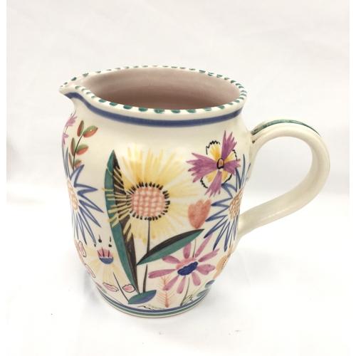 132 - Poole Pottery shape 898 unusual VM pattern jug by Hilda Hampton....
