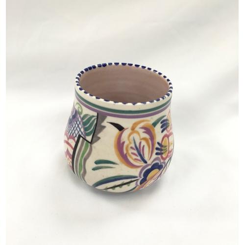 131 - Poole Pottery shape 349 unusual N pattern vase by Hilda Trim....