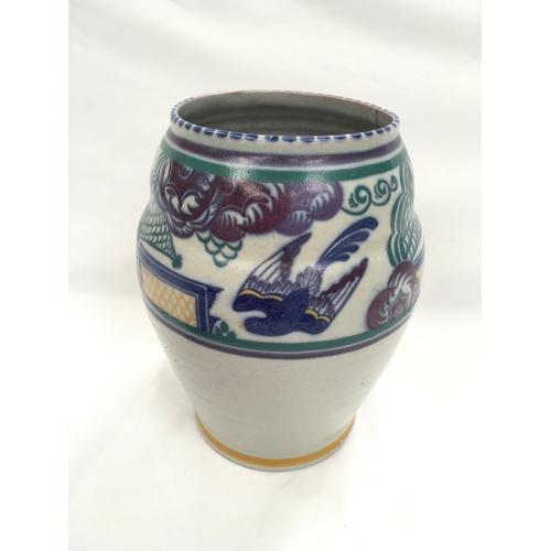 7 - Poole Pottery Carter Stabler Adams shape 429 large PN pattern vase by Anne Hatchard....