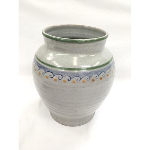 10 - Poole Pottery Carter Stabler Adams shape DL34 N pattern large transitional vase by Anne Hatchard....