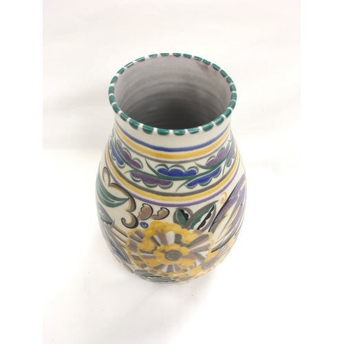 19 - Poole Pottery Carter Stabler Adams shape 337 FK pattern vase by Ruth Pavely....