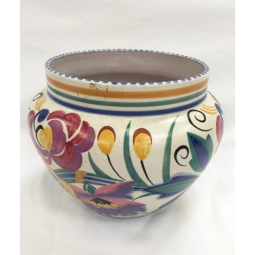 9 - Poole Pottery shape 924 ZN pattern jardiniere by Eileen Prangnell (star crack to base)...