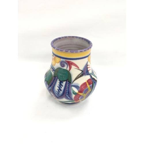 35 - Poole Pottery shape 112 TY pattern vase by Marjorie Batt....